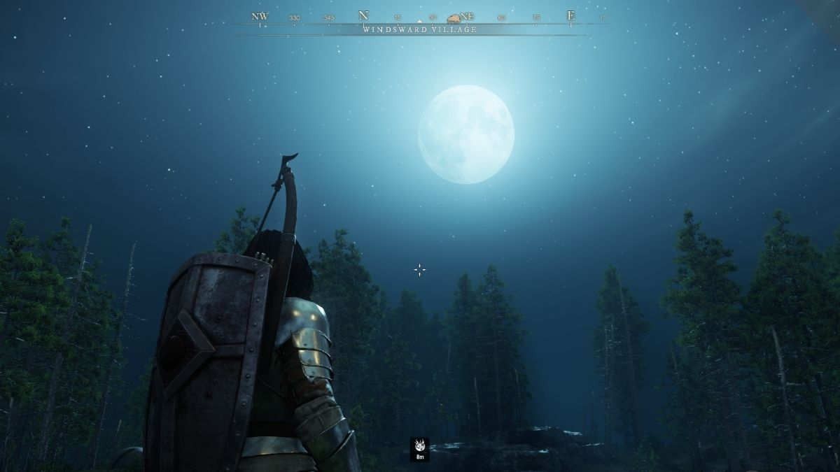 Sky View at Night in New World